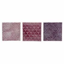Rose dekor csempe, 3-as szett, bordó