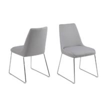 Alison szék, világosszürke szövet