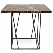 Helix lámpaasztal, barna márvány