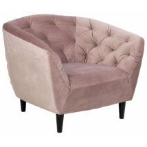 Ria fotel, rózsaszín bársony