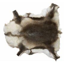Renna szarvasbőr, barna/fehér