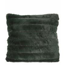 Stitched Bars párna, zöld műszőrme, 45x45 cm
