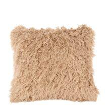 Cuddly párna, barna műszőrme, 45x45 cm