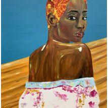 Tyra festmény, 80x80cm