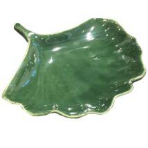 Ginkgo Leaf kínálótál, sötétzöld