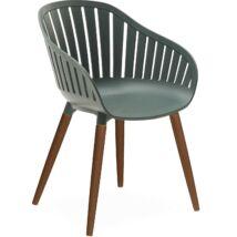 Cannes kerti szék, zöld, eukaliptusz láb