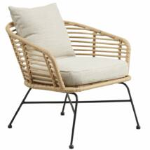 Bianchi kerti fotel, natúr, fekete fém láb