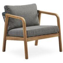 Markland kerti fotel, szürke, akác váz