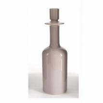 Bottle M gyertyatartó, fényes bézs kerámia