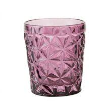 Metszett vizespohár, Rózsaszín üveg