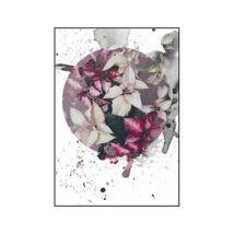 Flower plate kép, Fekete 70x100 cm