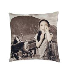 Dream on mountain girl díszpárna, fekete/fehér