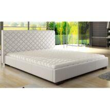Agata ágy 180 Fehér textilbőr