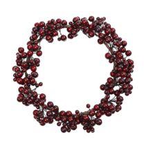 Koszorú piros bogyókkal