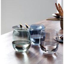 Skagway vizespohár, kék üveg