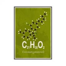 Molekula Cannabis kép, 50x70 cm
