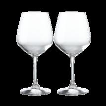 Restaurant vörösboros pohár, 2db-os szett kristály