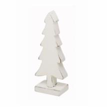 Fenyőfa dekoráció, fehér