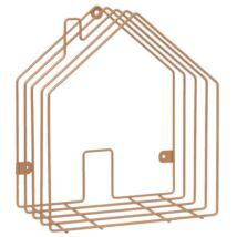 Újságtartó ház alakú, Réz