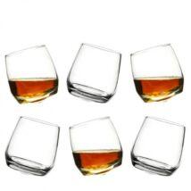 Bar whiskys pohár 6db-os szett, üveg