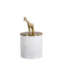 Márvány tároló zsiráf dísszel, Sárgaréz/márvány márvány