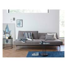 Splitback ágyazható kanapé, sötétszürke szövet