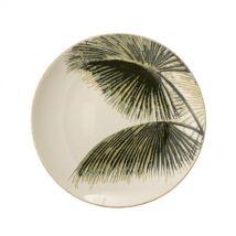 Aruba tányér, zöld kerámia
