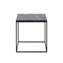 Square dohányzóasztal, 50 x 50 cm fekete márvány