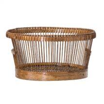 Kenyeres kosár bambusz, natúr bambusz
