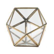 Zora dekorációs üveg, arany  üveg