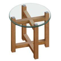 Melia lámpaasztal, üveg
