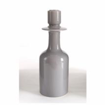 Bottle S gyertyatartó, fénye szürke kerámia