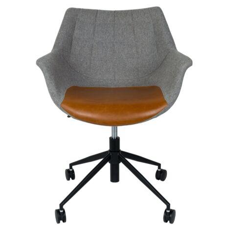 Doulton irodai szék, barna textilbőr/szövet