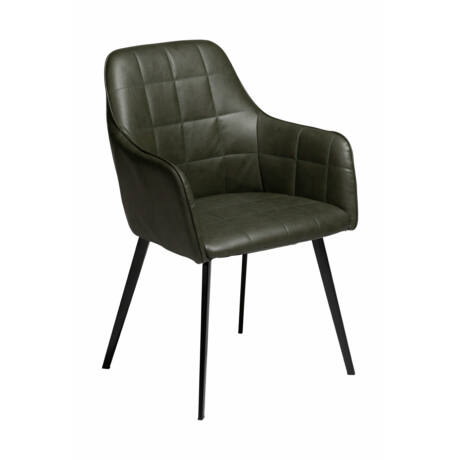 Embrace szék, zöld textilbőr