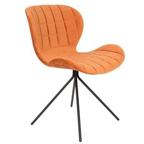 OMG szék, narancssárga bársony