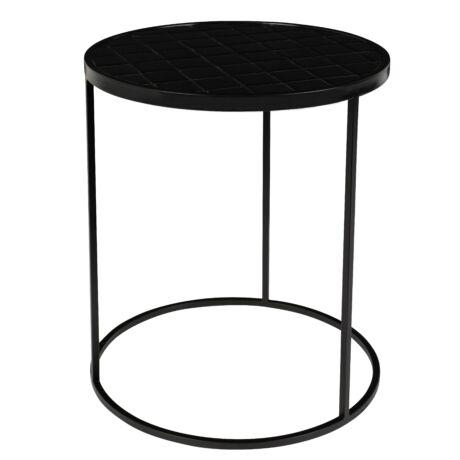 Glazed lerakóasztalasztal fekete