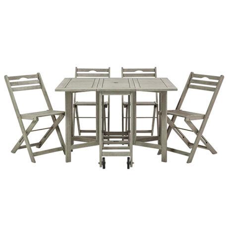 Ranzi kerti asztal összecsukható szett