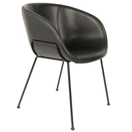Feston szék, fekete textilbőr