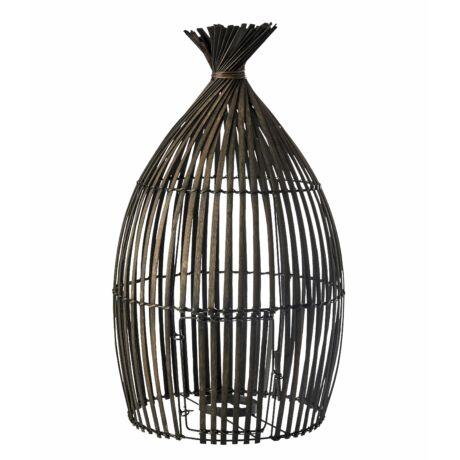 Faraway gyertyatartó, bambusz, H60cm