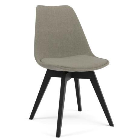 Gina szék, világosszürke, fekete láb