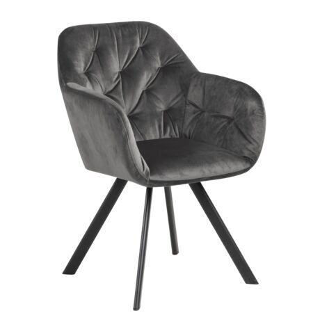 Silja szék, sötétszürke