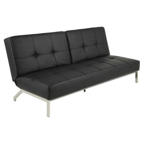 Perugia kanapéágy, fekete textilbőr