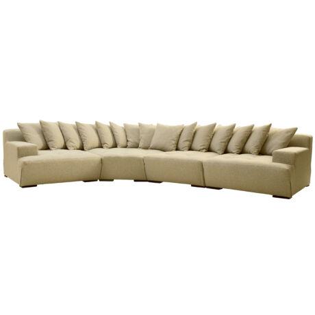 Big kanapé olivazöld szövet, fekete láb