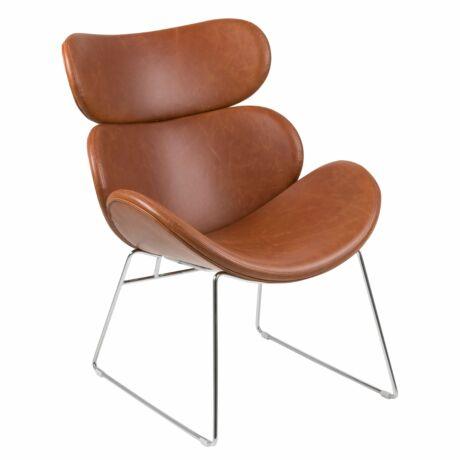 Cazar pihenő fotel, vintage brandy textilbőr