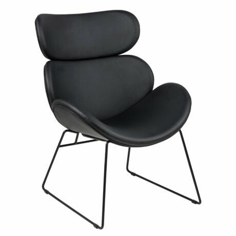 Cazar fotel fekete textilbőr
