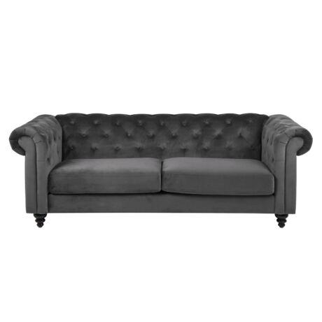 Charlietown 3 üléses kanapé, 28 s.szürke bársony