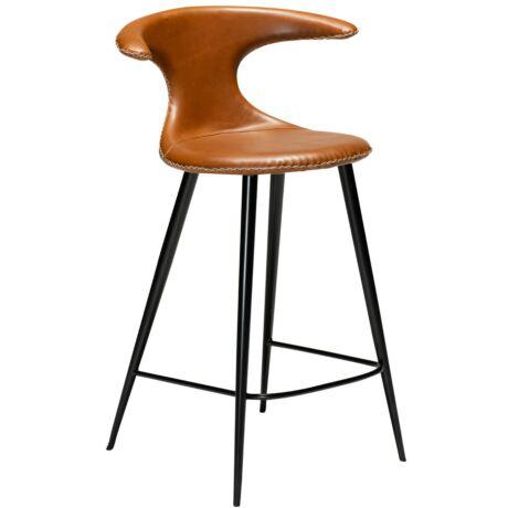 Flair counter alacsony bárszék, barna textilbőr