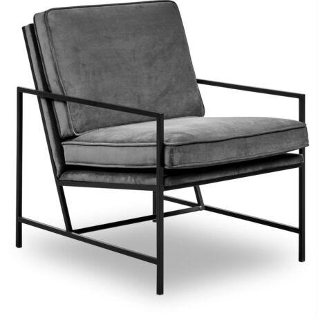 Steel fotel Sötétszürke bársony