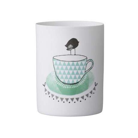 Votive mécsestartó Teacup, fehér kerámia