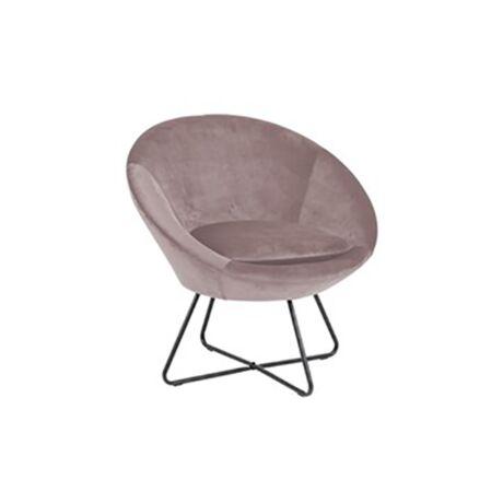 Center fotel rózsaszín bársony